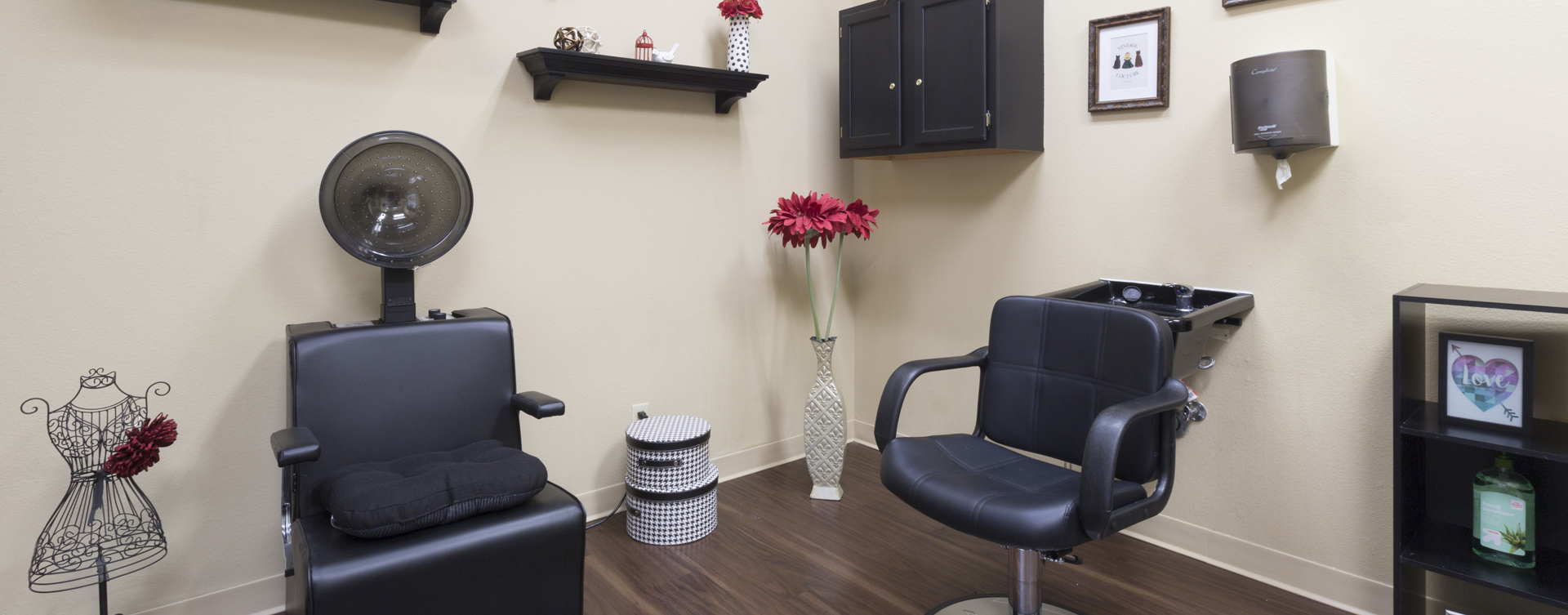 Receive personalized, at-home treatment from our stylist in the salon at Bickford of Omaha - Hickory