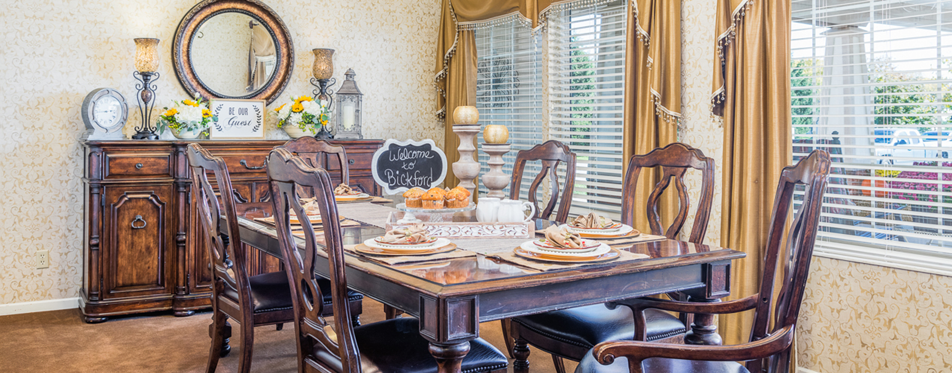 Have fun with themed and holiday meals in the private dining room at Bickford of Ames
