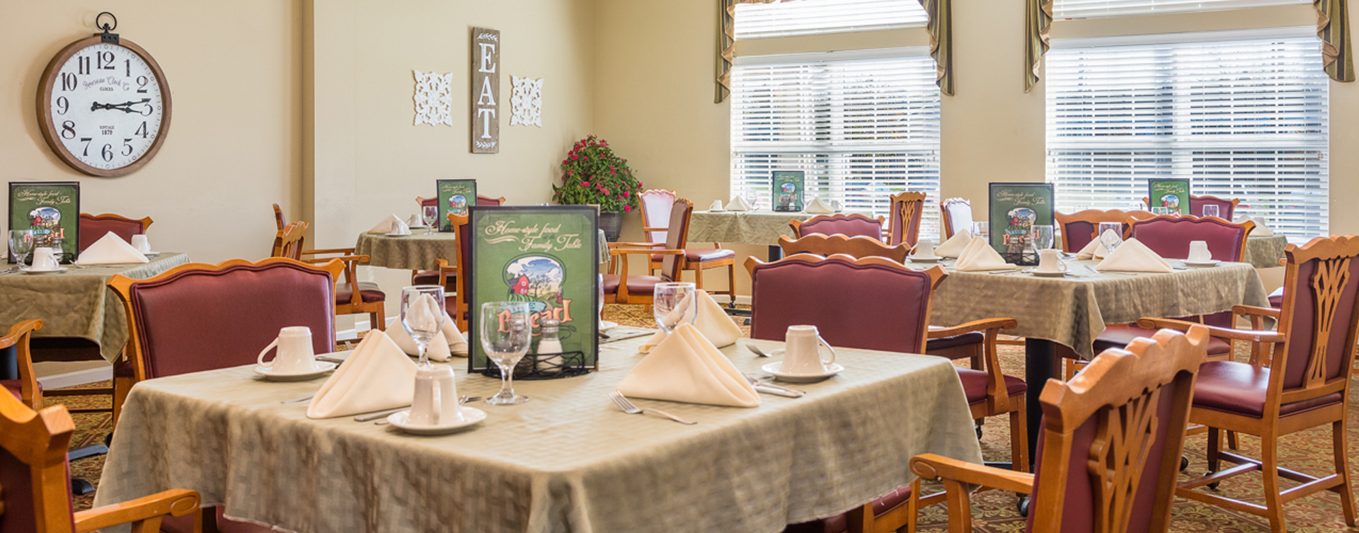 Enjoy homestyle food with made-from-scratch recipes in our dining room at Bickford of Ames