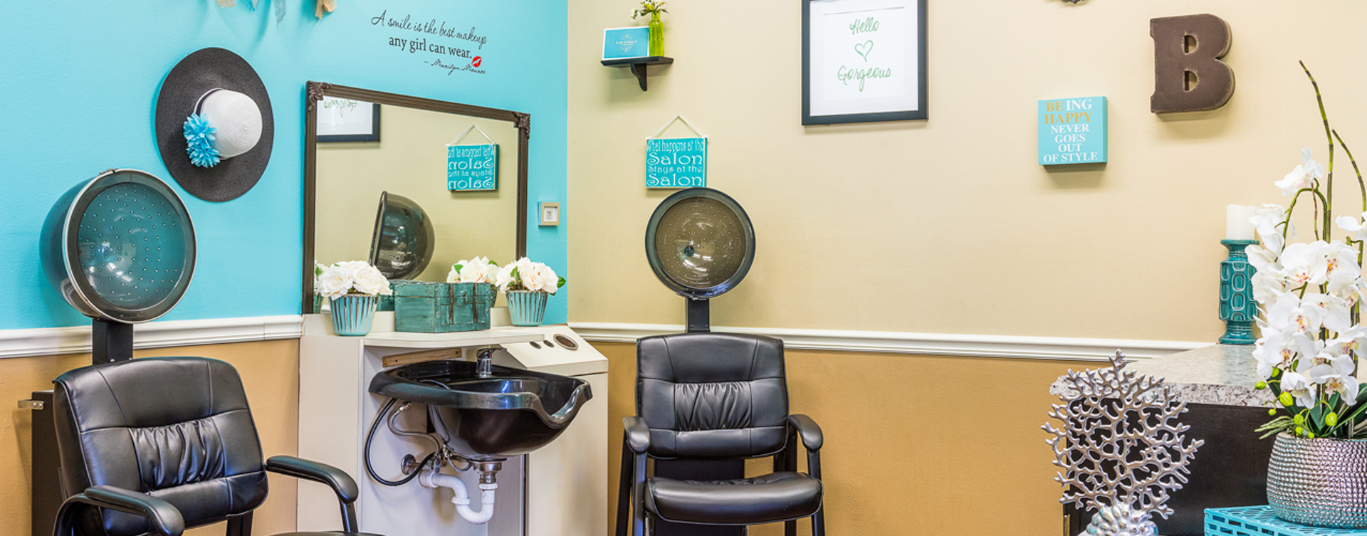Love your own stylist? She's welcome to take care of you in the salon at Bickford of Ames