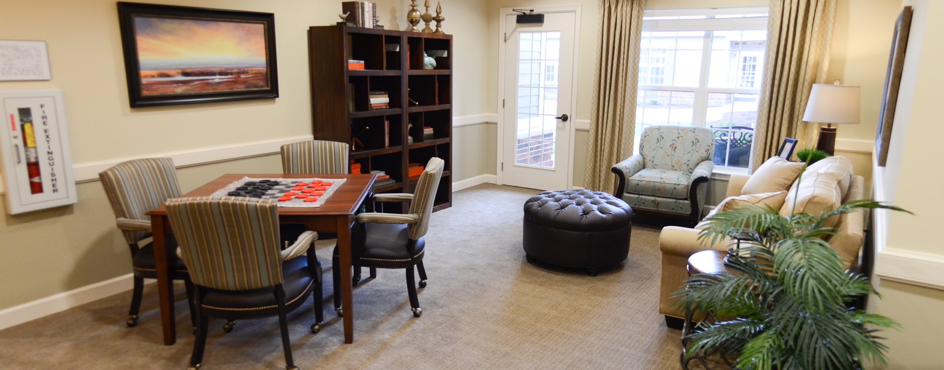 Enjoy a good book in the sitting area at Bickford of Aurora