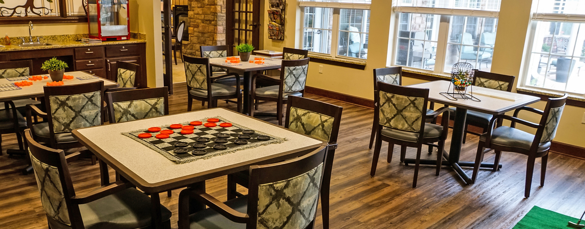 Unleash your creative side in the activity room at Bickford of Aurora