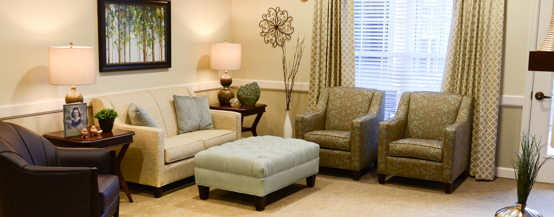Enjoy a good snooze in the sitting area at Bickford of Aurora