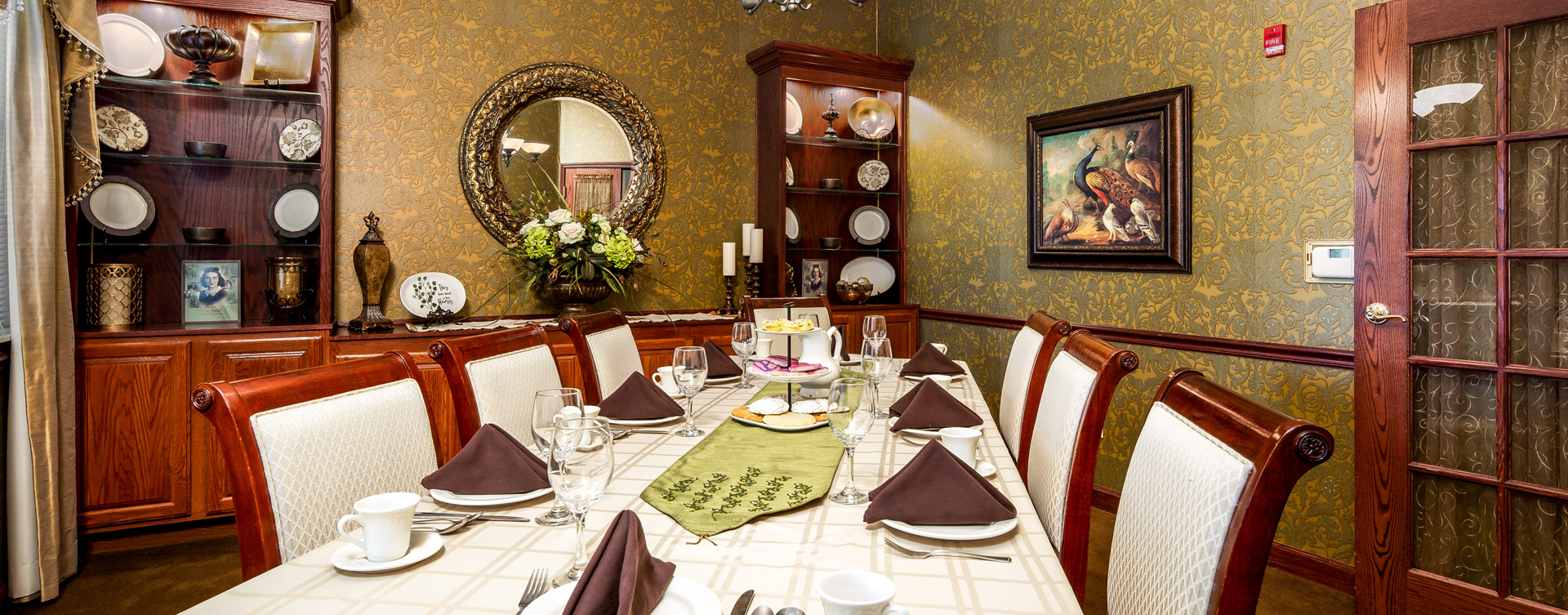 Food is best when shared with family and friends in the private dining room at Bickford of Battle Creek