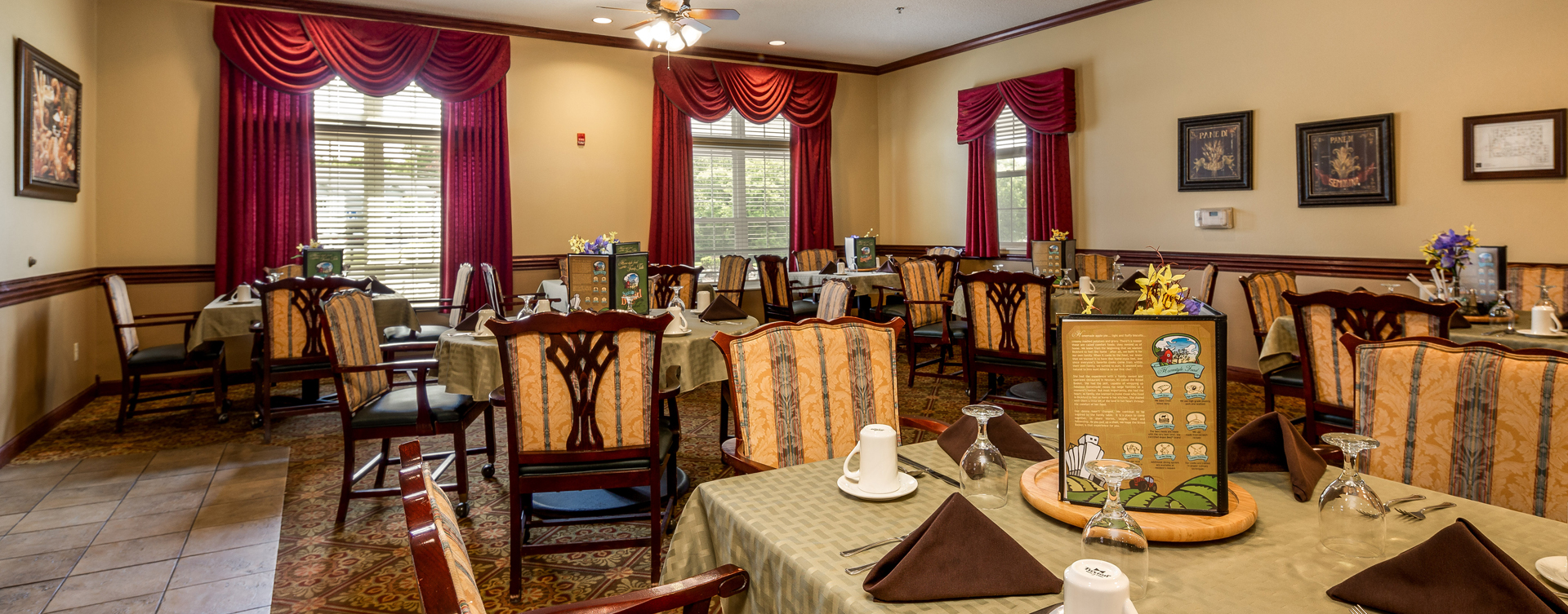 Enjoy homestyle food with made-from-scratch recipes in our dining room at Bickford of Battle Creek