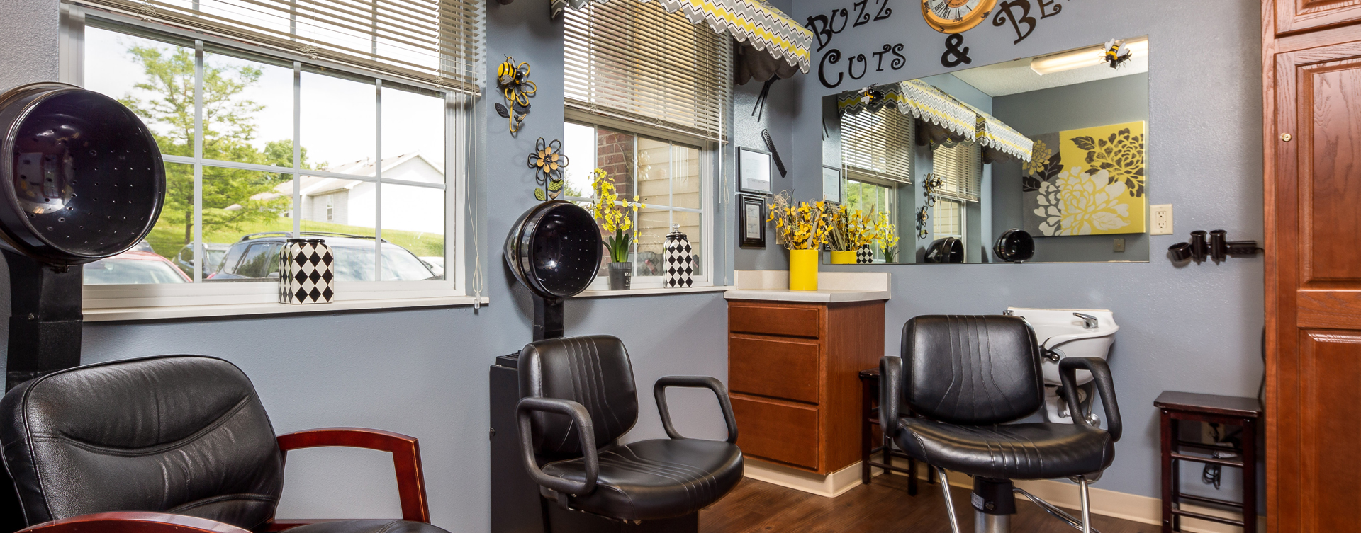 Receive personalized, at-home treatment from our stylist in the salon at Bickford of Battle Creek
