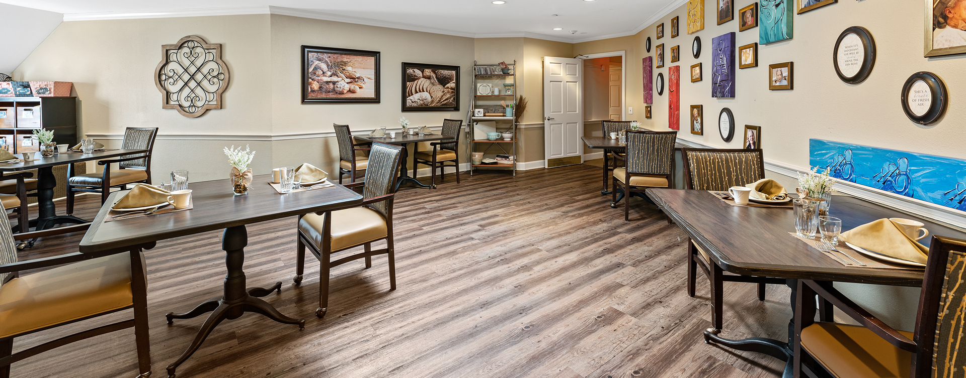Mary B's country kitchen evokes a sense of home and reconnects residents to past life skills at Bickford of Bexley