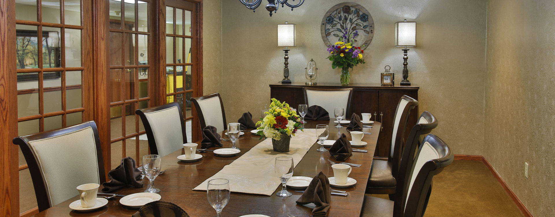 Celebrate special occasions in the private dining room at Bickford of Bloomington