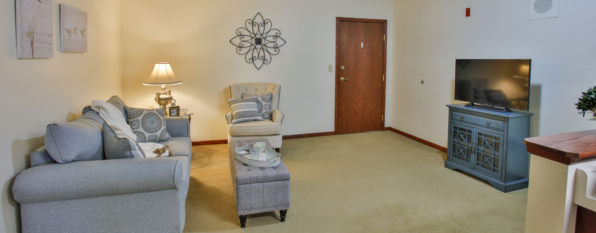 Enjoy senior friendly amenities, personal climate control and security in an apartment at Bickford of Bloomington