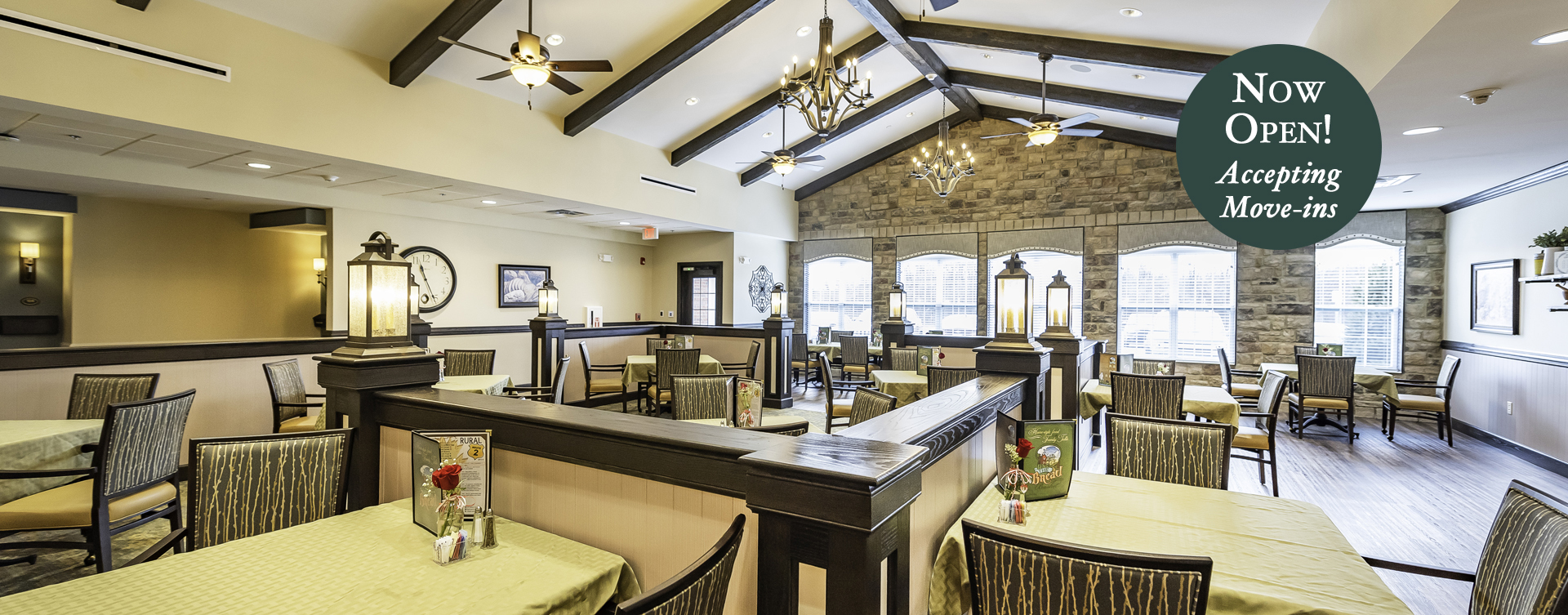 Enjoy homestyle food with made-from-scratch recipes in our dining room at Bickford of Canton