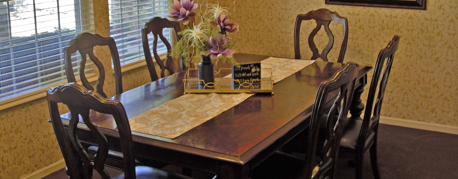 Have fun with themed and holiday meals in the private dining room at Bickford of Cedar Falls