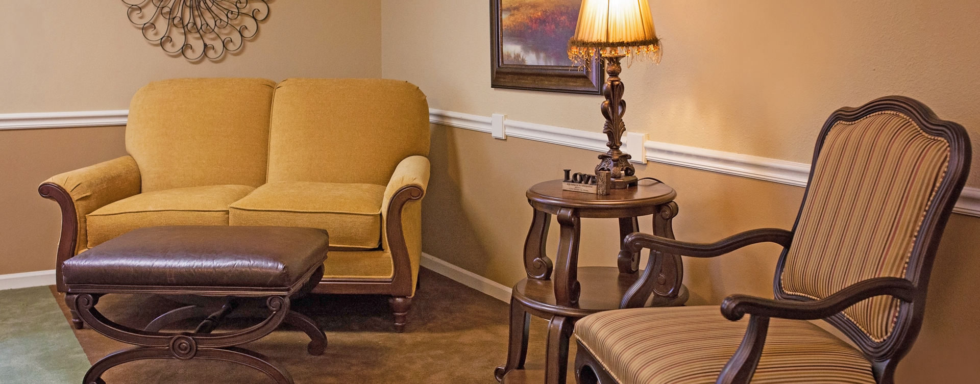 Enjoy a good snooze in the sitting area at Bickford of Cedar Falls