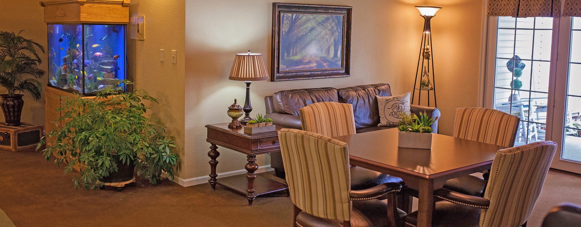Enjoy a good card game with friends in the activity room at Bickford of Cedar Falls