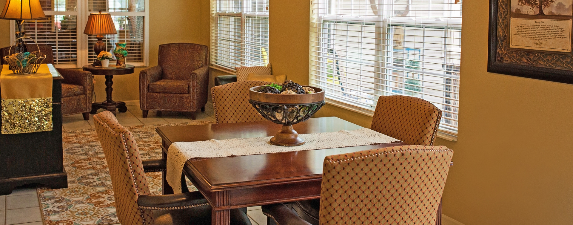 Enjoy the view of the outdoors from the sunroom at Bickford of Cedar Falls