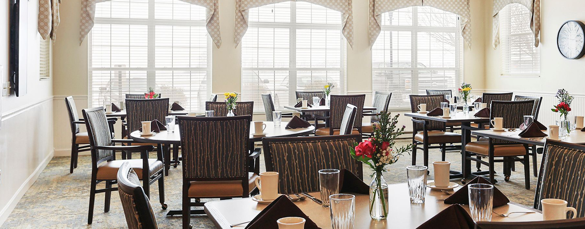 Enjoy homestyle food with made-from-scratch recipes in our dining room at Bickford of Champaign