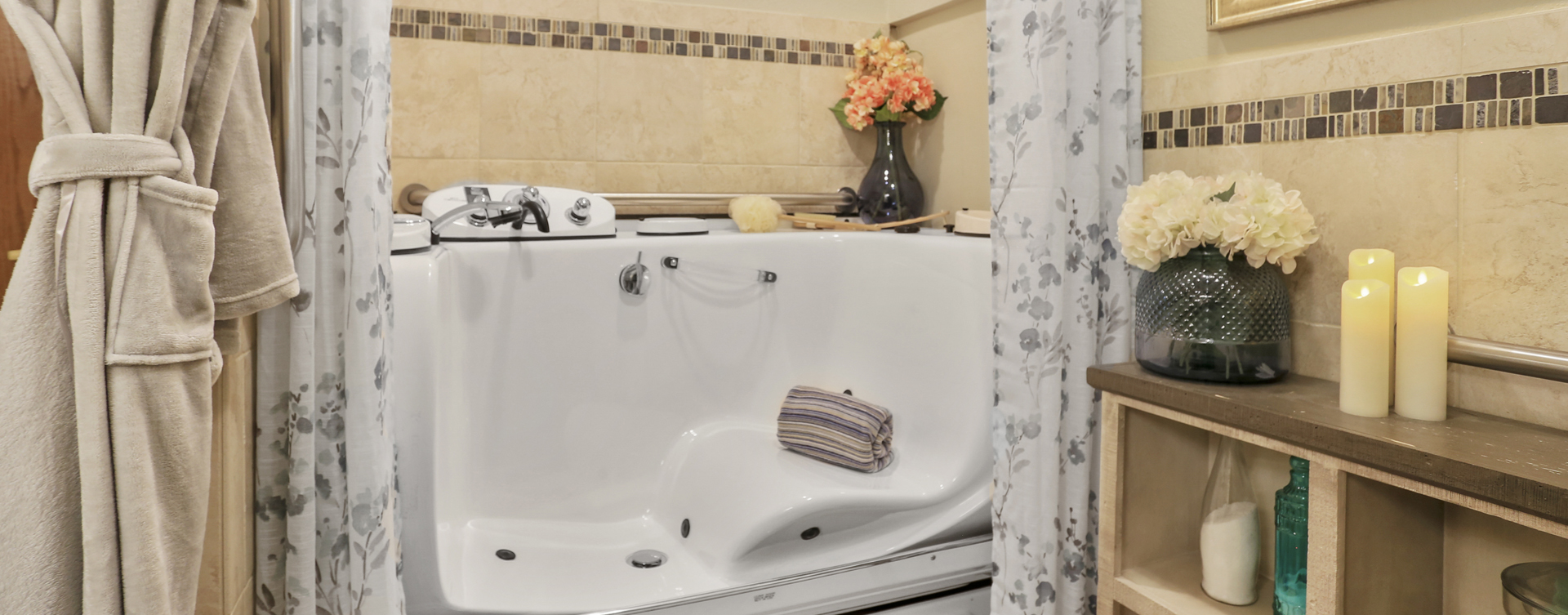 Hydrotherapy eases achy joints in our whirlpool at Bickford of Champaign