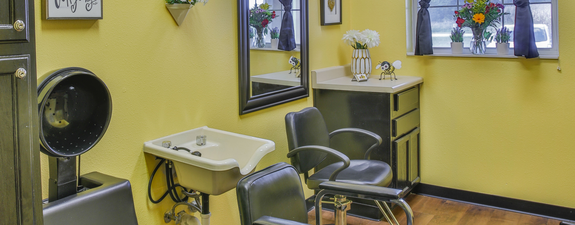 Strut on in and find out what the buzz is all about in the salon at Bickford of Champaign