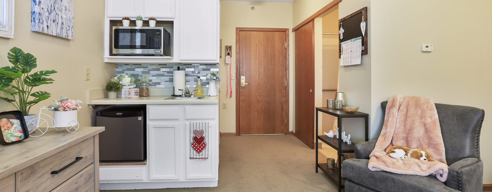 Enjoy senior friendly amenities, personal climate control and security in an apartment at Bickford of Champaign