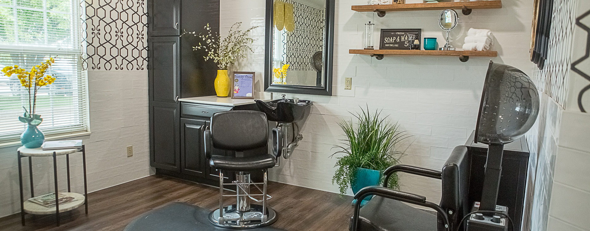 Love your own stylist? She's welcome to take care of you in the salon at Bickford of Clinton