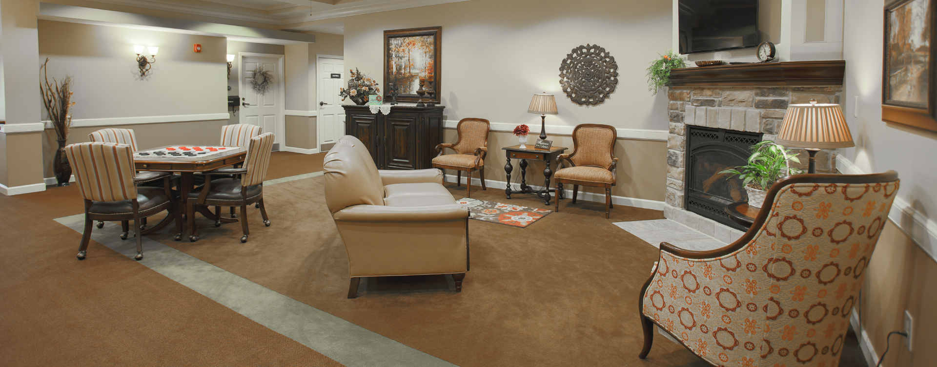 Enjoy a good book in the sitting area at Bickford of Carmel