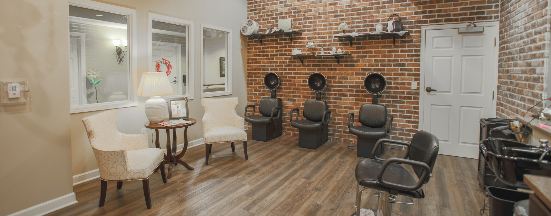 Strut on in and find out what the buzz is all about in the salon at Bickford of Carmel