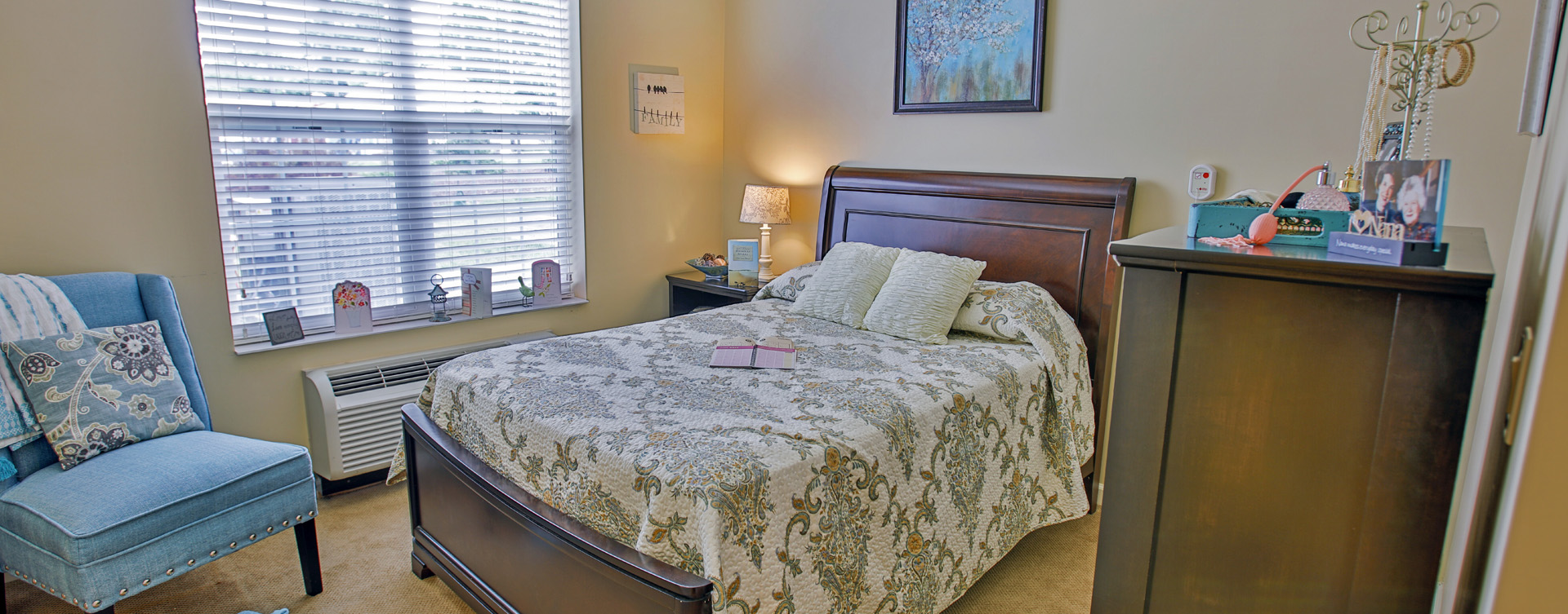 Enjoy senior friendly amenities, personal climate control and security in an apartment at Bickford of Carmel