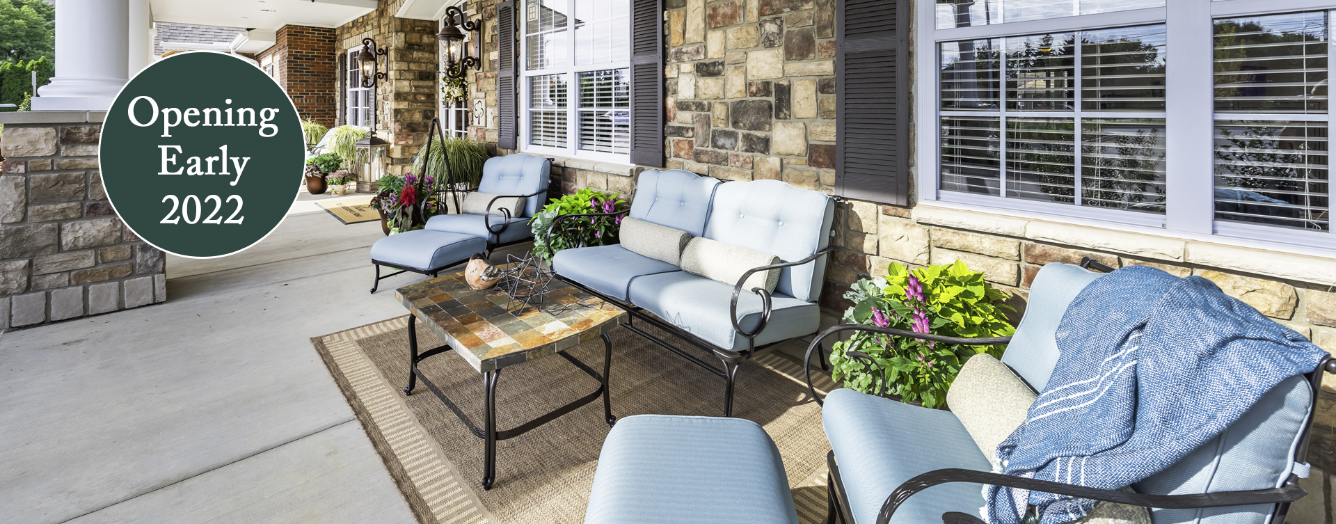Relax in your favorite chair on the porch at Bickford of Chesapeake