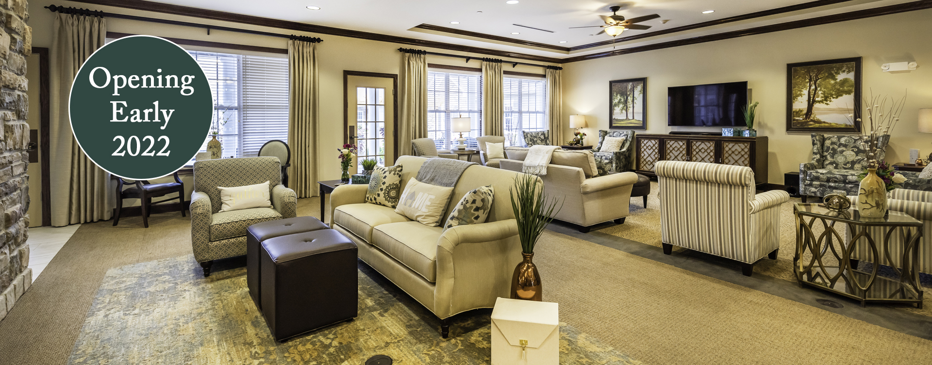 Snooze in your favorite chair in the living room at Bickford of Chesapeake
