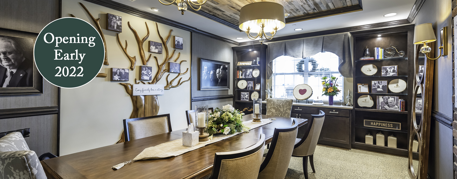 Celebrate special occasions in the private dining room at Bickford of Chesapeake