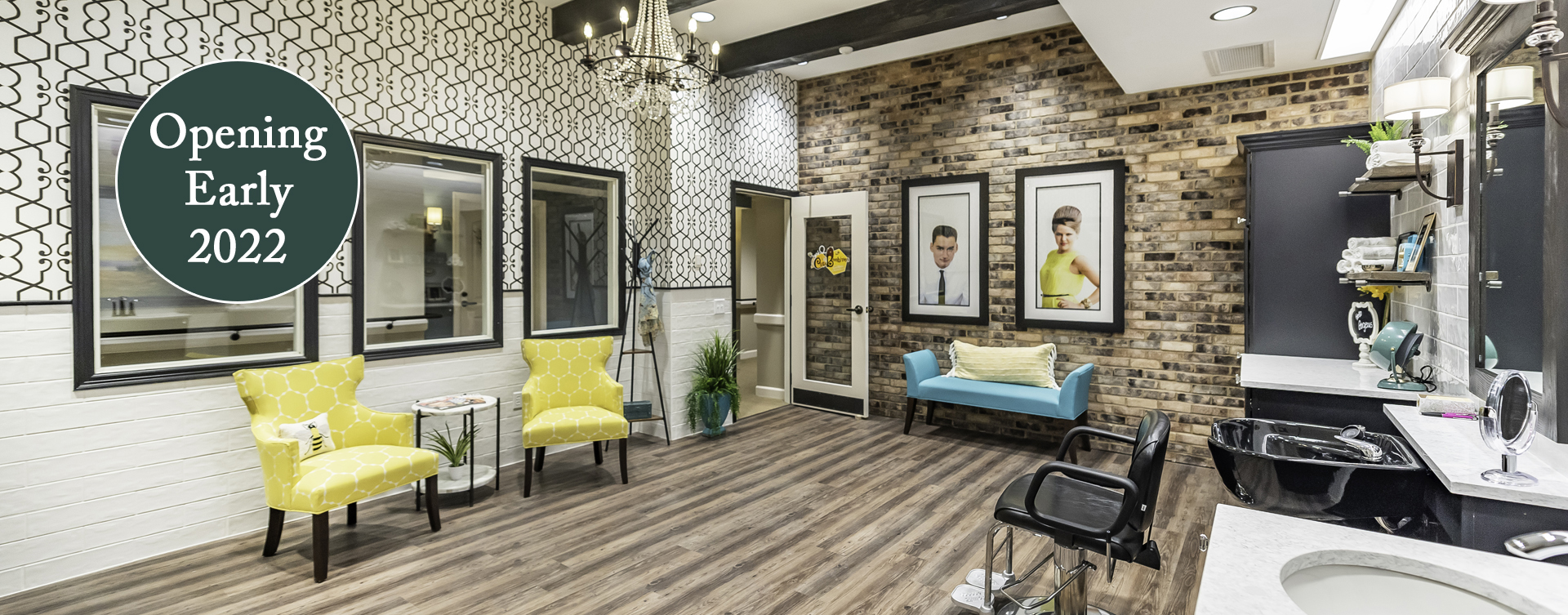 Receive personalized, at-home treatment from our stylist in the salon at Bickford of Chesapeake