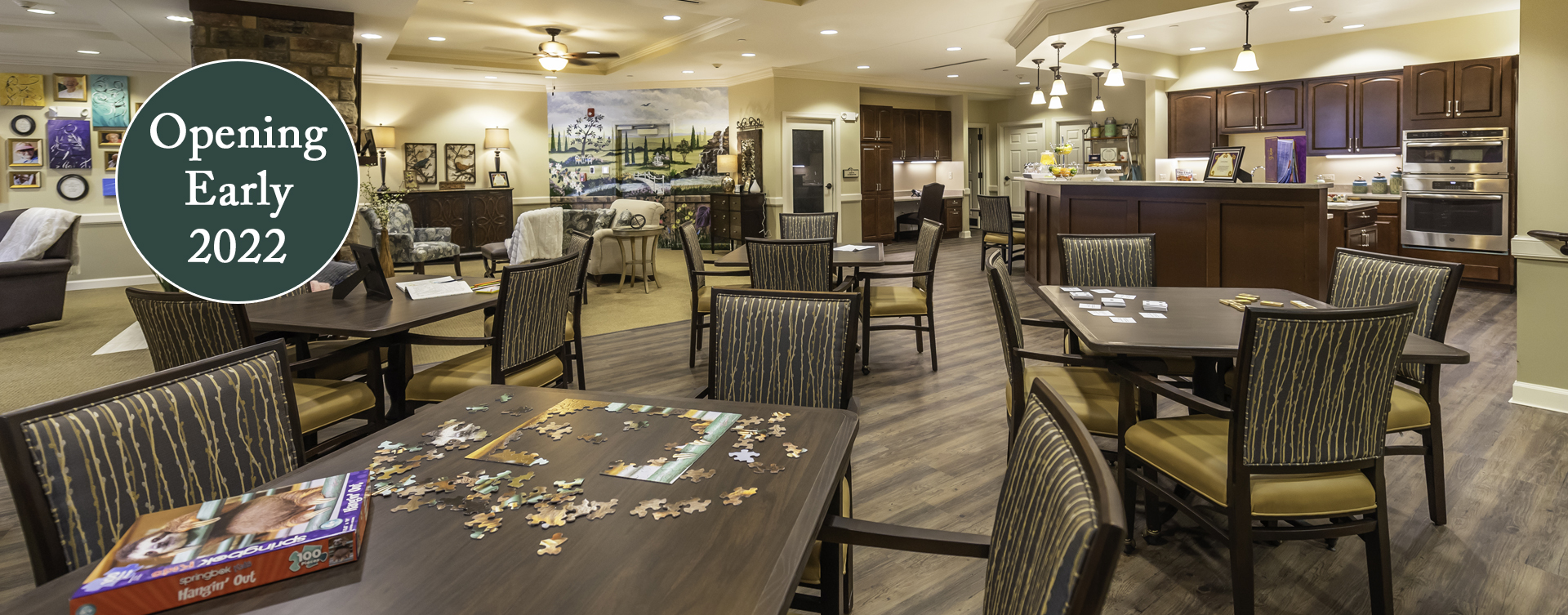 Mary B's country kitchen evokes a sense of home and reconnects residents to past life skills at Bickford of Chesapeake
