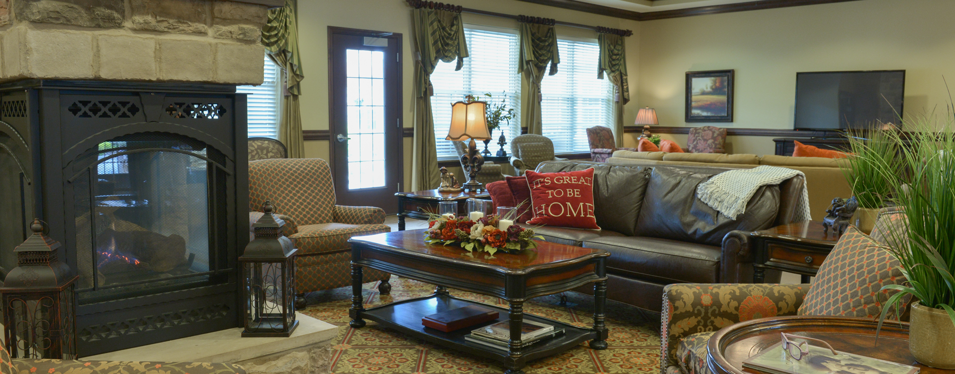 Snooze in your favorite chair in the living room at Bickford of Crown Point