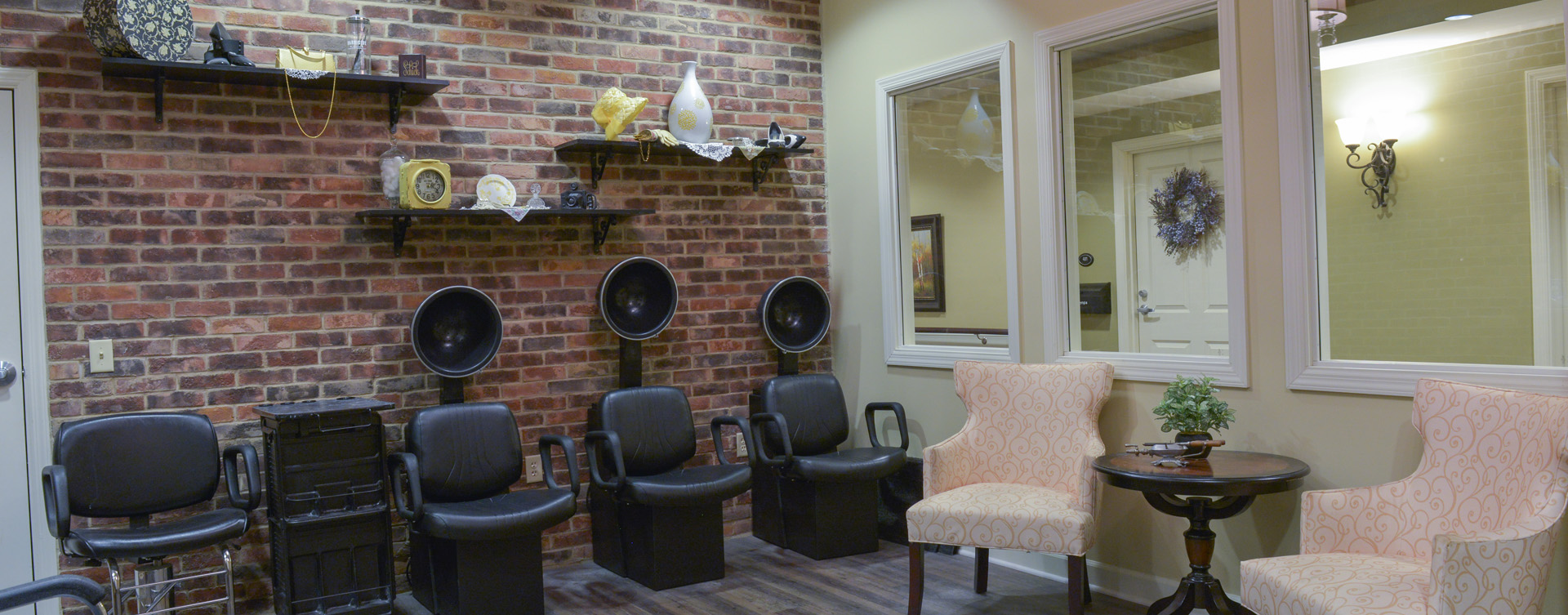 Strut on in and find out what the buzz is all about in the salon at Bickford of Crown Point