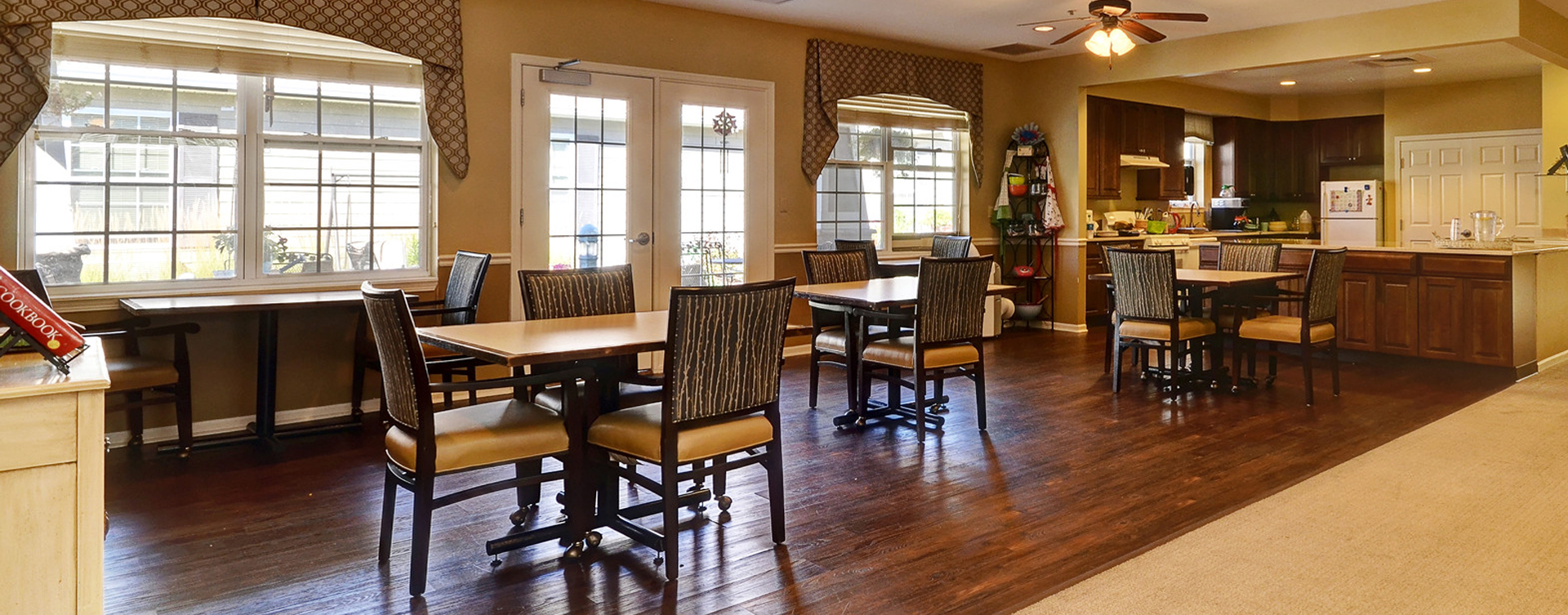 Mary B's country kitchen evokes a sense of home and reconnects residents to past life skills at Bickford of Crystal Lake