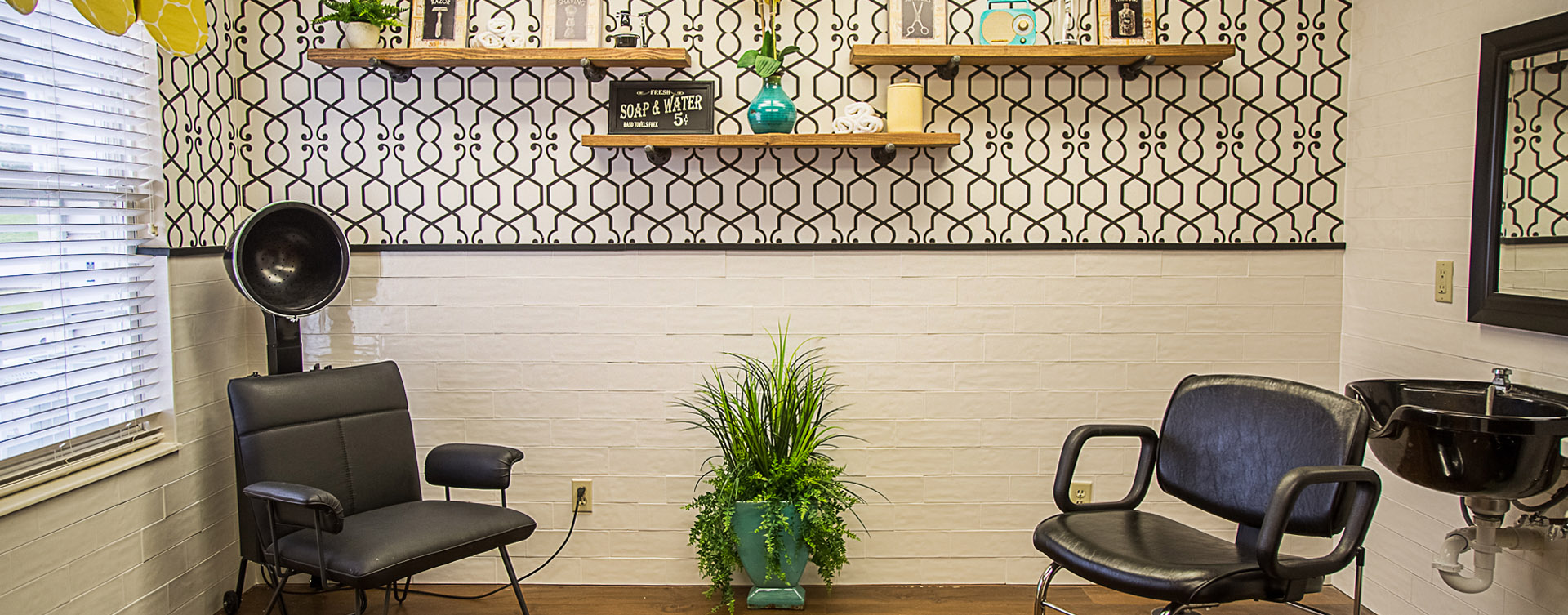 Receive personalized, at-home treatment from our stylist in the salon at Bickford of Davenport