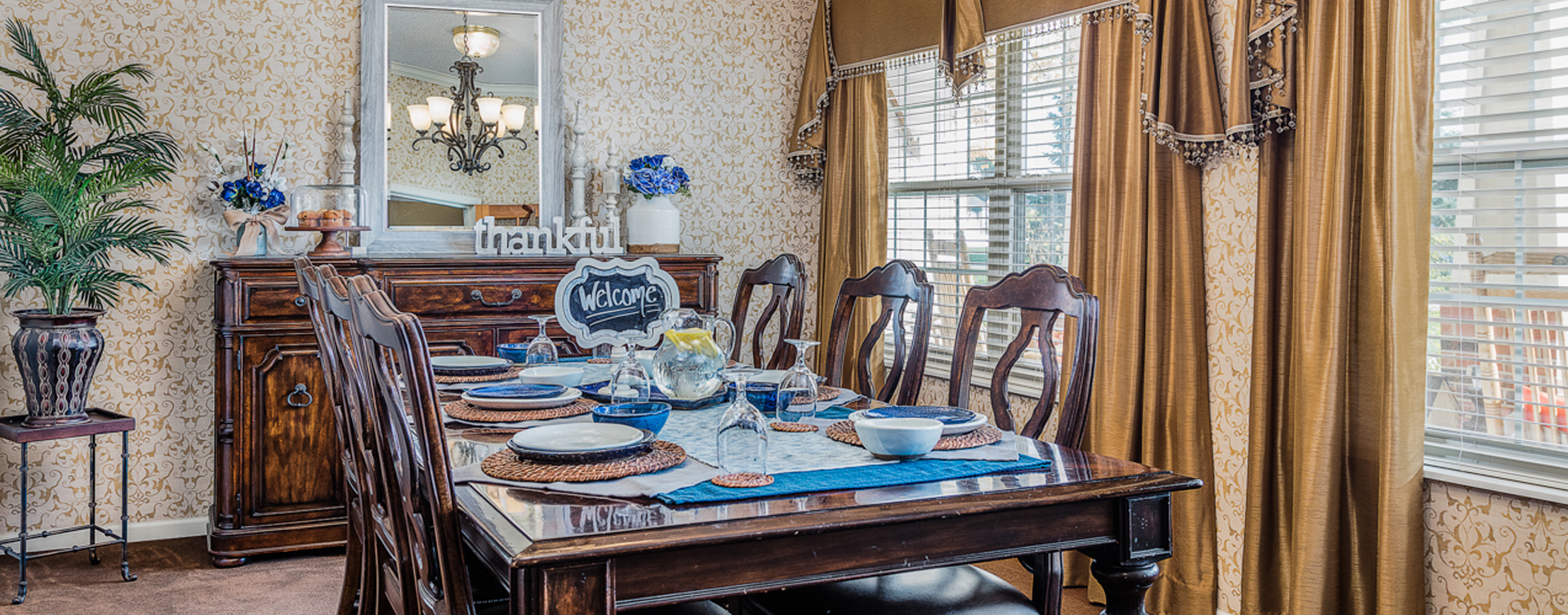 Have fun with themed and holiday meals in the private dining room at Bickford of Fort Dodge