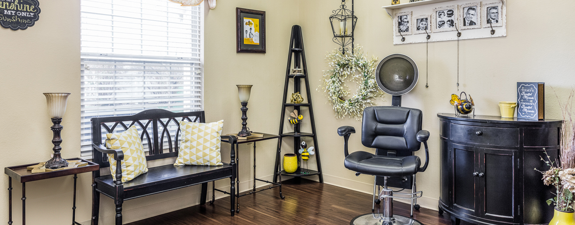 Love your own stylist? She's welcome to take care of you in the salon at Bickford of Fort Dodge