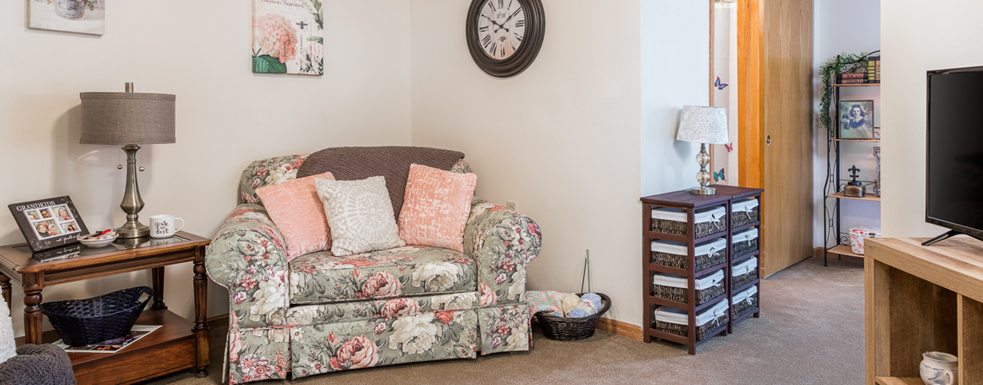 Personalize and decorate to your unique tastes an apartment at Bickford of Fort Dodge