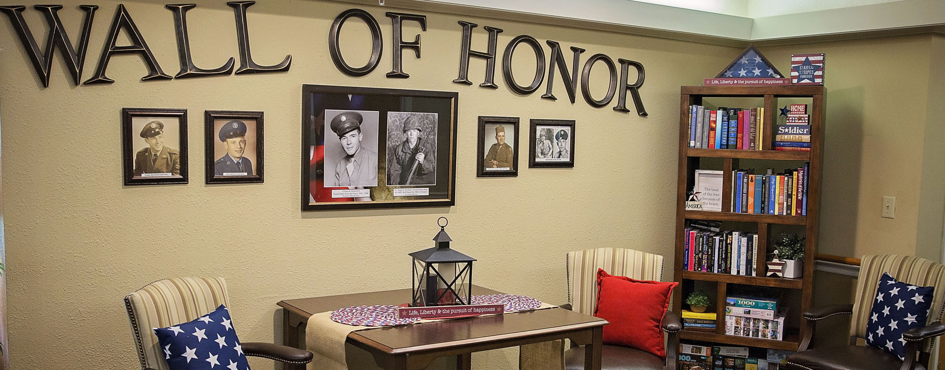 We salute all veteran residents on our Wall of Honor at Bickford of Grand Island