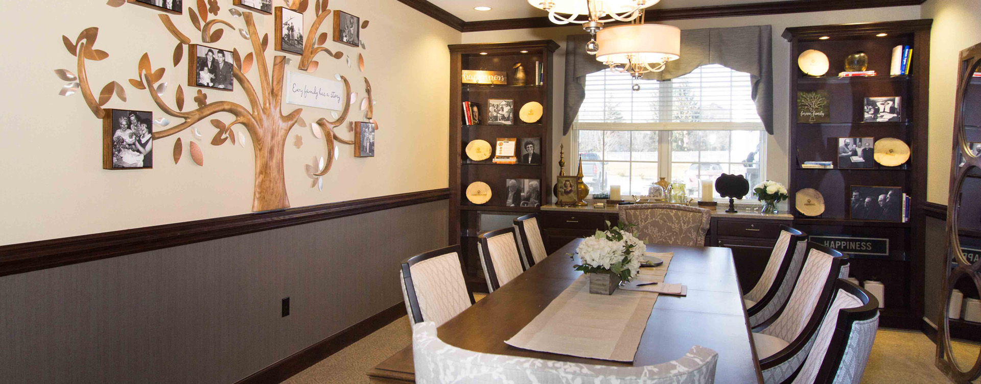Food is best when shared with family and friends in the private dining room at Bickford of Gurnee