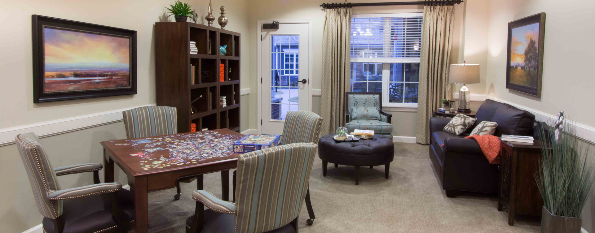 Enjoy a good book in the sitting area at Bickford of Gurnee