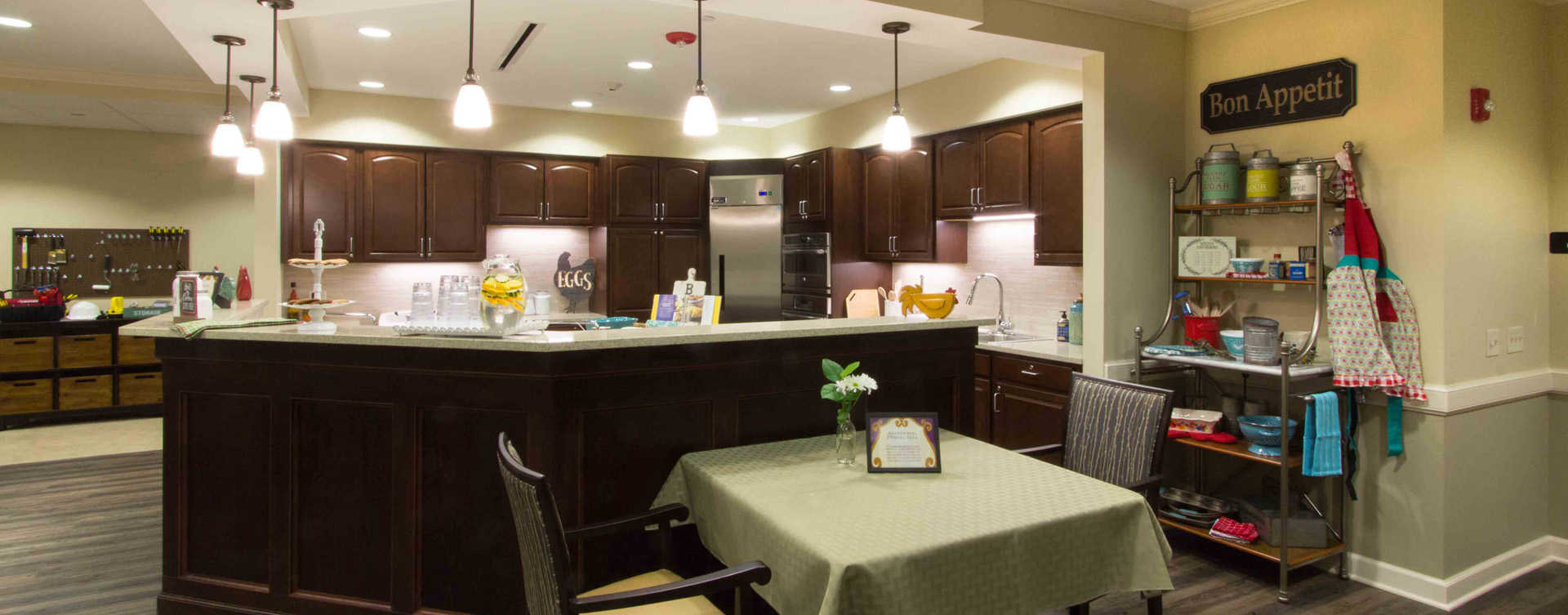 Mary B's country kitchen evokes a sense of home and reconnects residents to past life skills at Bickford of Gurnee