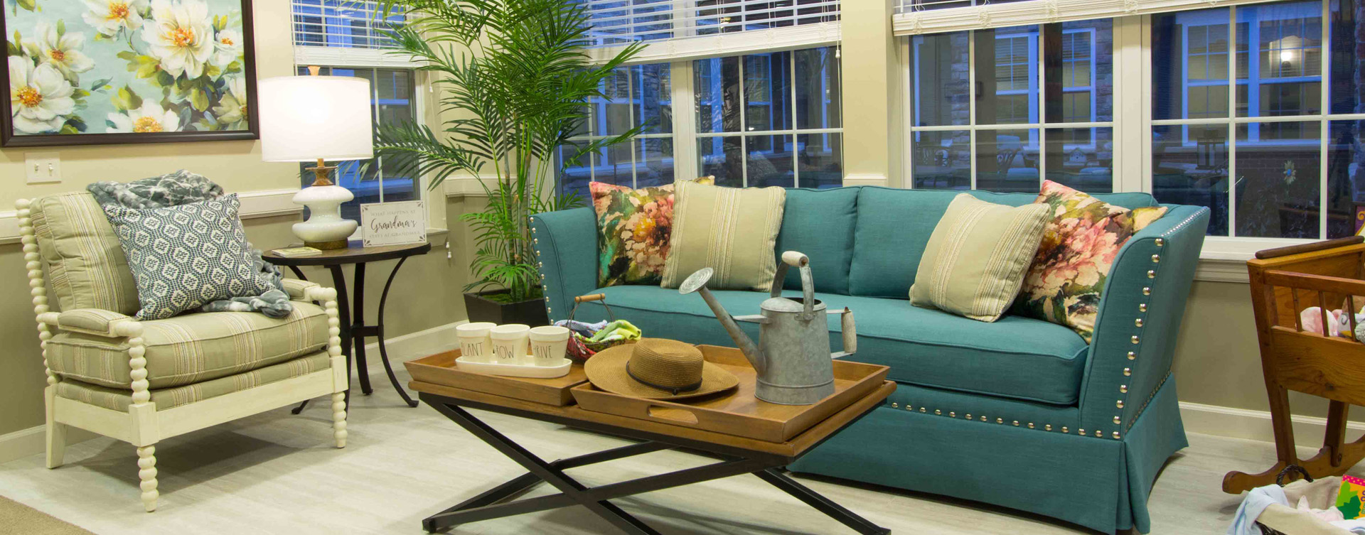 Relax in the warmth of the sunroom at Bickford of Gurnee