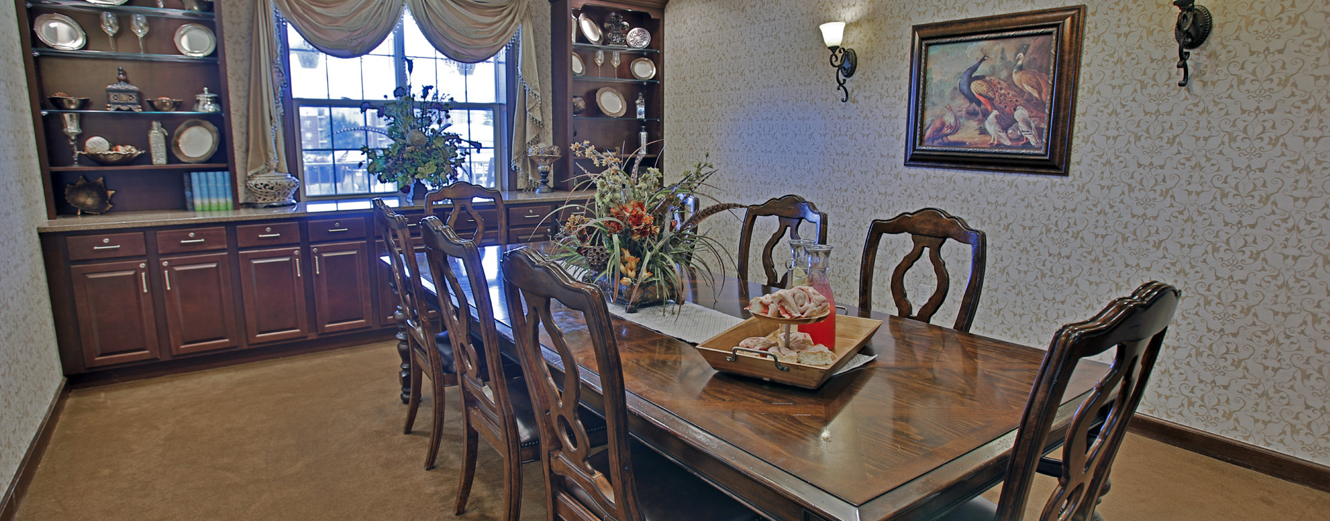 Have fun with themed and holiday meals in the private dining room at Bickford of Greenwood
