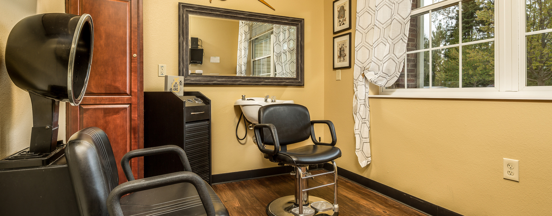 Love your own stylist? She's welcome to take care of you in the salon at Bickford of Okemos