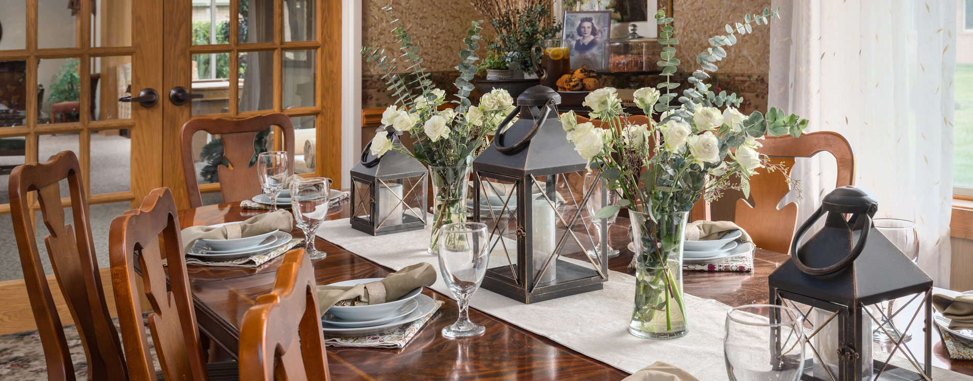 Celebrate special occasions in the private dining room at Bickford of Lancaster