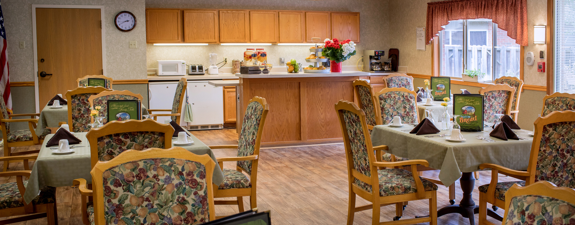 Mary B's country kitchen evokes a sense of home and reconnects residents to past life skills at Bickford of Lancaster