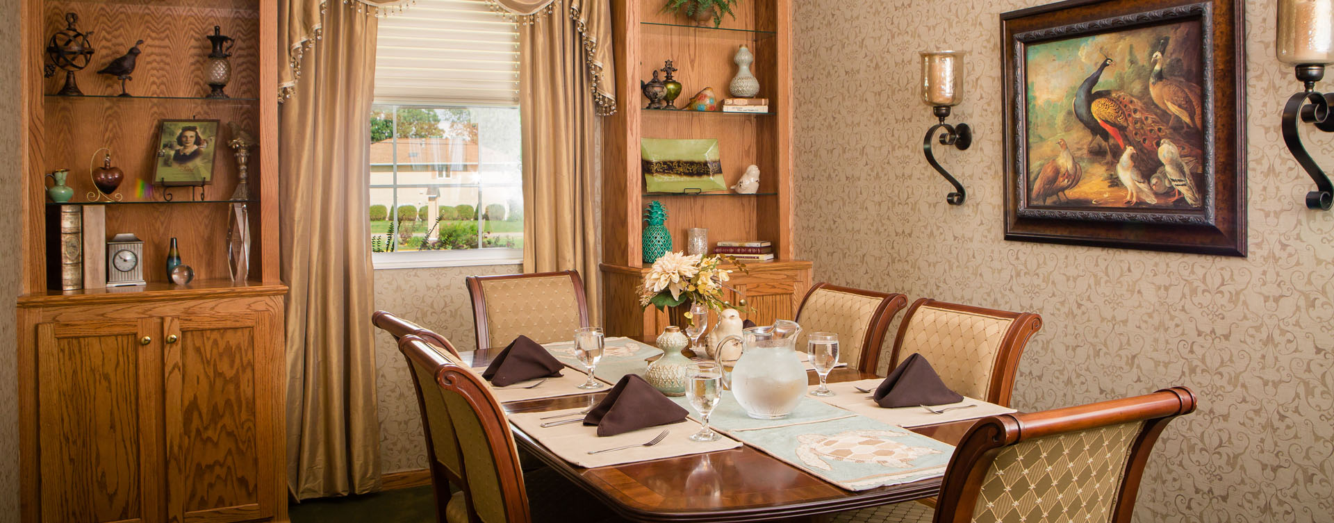 Food is best when shared with family and friends in the private dining room at Bickford of Macomb