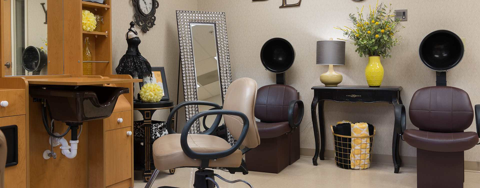Love your own stylist? She's welcome to take care of you in the salon at Bickford of Middletown
