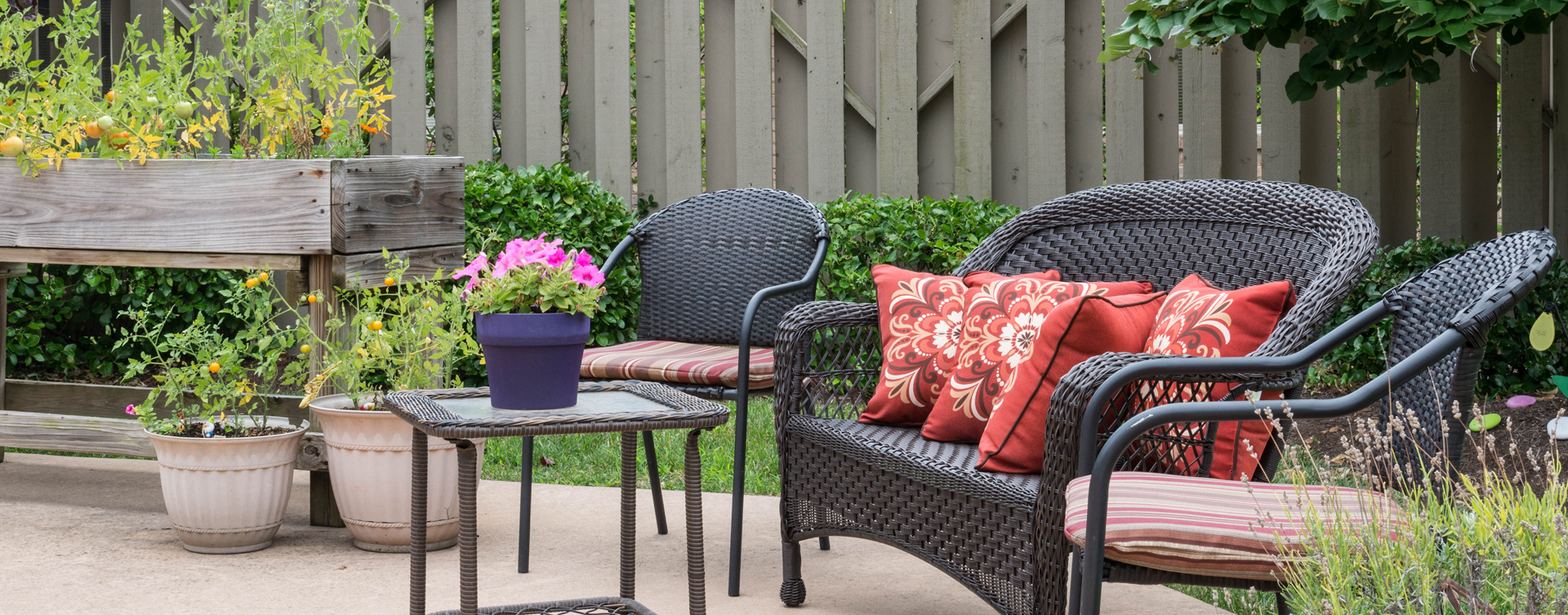Enjoy bird watching, gardening and barbecuing in our courtyard at Bickford of Middletown